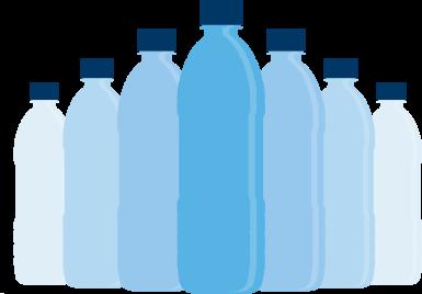 plastic bottle graphic